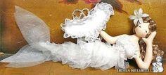 Maravillosa sirena blanca preciosa. Ahora ya puedes tener la tuya propia haciéndola con tus propias manos. Patrón gratis.
