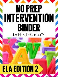 Your time is precious!! Intervention should be powerful, purposeful, and easy to prep! This HUGE 2nd Edition No Prep Intervention Binder for your emergent readers is ink-friendly and can be used over and over again with the use of sheet protectors and dry erase markers! Intervention tools will be at your fingertips with your time-saving and effective binder!