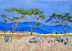 Elephants of Tanzania ORIGINAL DIGITAL DOWNLOAD by by MikeKrausArt