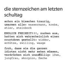 waage #löwe #zwilling #wassermann #letzterschultag #fische #steinbock #lustig #schütze #schuleaus #schule #sternzeichen #widder #jungfrau #skorpion #krebs #horoskop #stier