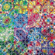 Colored Glass - I want this in my home - like in the Bellagio lobby - in chandeliers or other lighting.. :)
