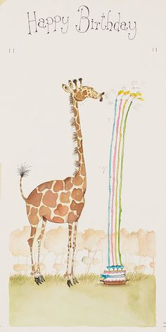 Happy Birthday Giraffe, Cute Happy Birthday Wishes, Happy Birthday Greetings, Creative Birthday Cards, Happy Birthday Posters, Happy Birthday Wallpaper, Birthday Card Sayings, Birthday Blessings, Happy Birthday Images