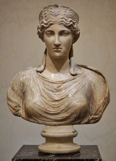 Victoria (Nike), Roman bust (marble), copy after Greek original, 2nd century AD (original 5th c. BC), (The Hermitage, St Petersburg).