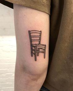 @catewebb-#tatuaje de una silla lineal Tatoo, Art