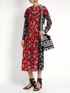 Harrison paisley-print silk midi dress Dodo Bar Or rSFhOYP