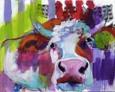 """Cow Art - Kuh Kunst """"I'm a Queen"""" Acrylic on canvas, 100x80 cm"""