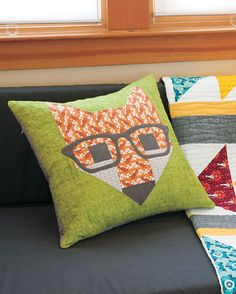 Additional Images of Fancy Fox II Pillow Kit by Elizabeth Hartman - ConnectingThreads.com