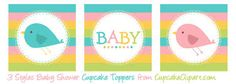 baby shower cupcake toppers - Google Search