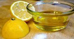 mix lemon and olive oil