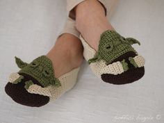 Star Wars Yoda slippers crochet
