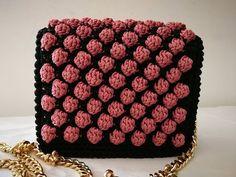 TUTORIAL simil CHANEL uncinetto crochet PUNTO NOCCIOLINO bubble BICOLOR PINK (part 1) - YouTube