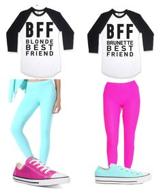 """""""Bffs"""" by emmamack-1 ❤ liked on Polyvore featuring Bebe and Converse"""