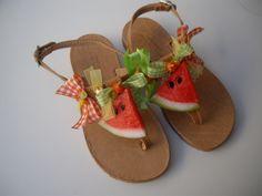 HandMade Sandals / Watermelon