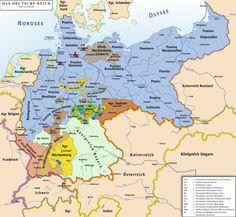 Karte des Deutschen Reichs