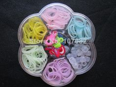 30 Boxes Glow in the Dark Rubber Bands Loom Bands Kit Refills Packs (200 bands+20pcs uv pony beads+6pcs charms) Free Shipping-in Charm Bracelets from Jewelry on Aliexpress.com