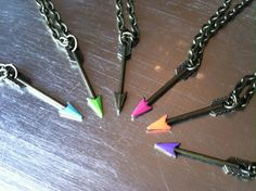 A personal favorite from my Etsy shop https://www.etsy.com/listing/200613172/itty-bitty-neon-arrow-necklace
