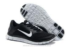 Buy Men s 579958-010 Mens Nike Free 4.0 V3 Black White