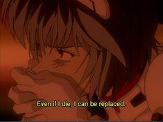 Even if I die. I can be replaced Neon Genesis Evangelion Rei Ayanami, Neon Genesis Evangelion, Old Anime, Anime Art, Manga Art, Anime Guys, Sad Wallpaper, Doja Cat, Ex Machina