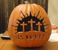 Jesus Loves You Jack-O-Lantern