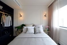 New York inspired bedroom l Wall lights l Bed styling l The Block Triple Threat: Week 1 Room Reveals