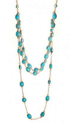 I absolutely love the combination of gold with turquoise! It is a Venezuelan favorite...Lenaya Necklace - Turquoise >> Oh, I want this!