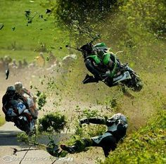 Wow, what a spectacular crash, we can only hope the rider survived.