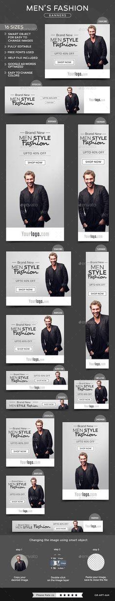 Men Fashion Banners Tempalte #design Download: http://graphicriver.net/item/men-fashion-banners/11698507?ref=ksioks