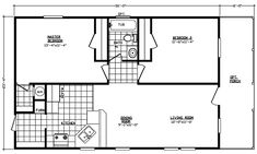 Small Modular Homes Floor Plans | Manufactured Home and Mobile Home Floor Plans: EV2