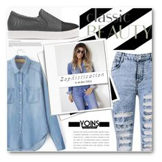 """""""YOINS: 20 Sophisticated Tomboy."""" by eclectic-chic ❤ liked on Polyvore"""