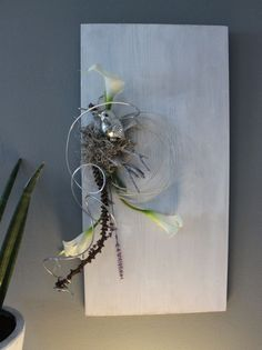 tischdekoration tischgesteck gesteck calla wei gr n. Black Bedroom Furniture Sets. Home Design Ideas