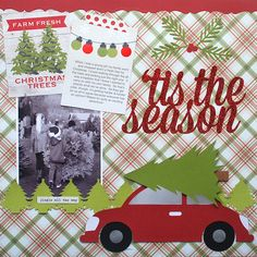 tistheseasonLO|Cari Locken for Silhouette copy Christmad traditions scrapbook layout