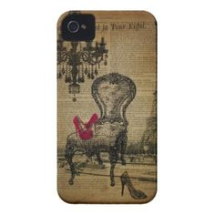 elegant vintage girly paris fashion iPhone 4 cover