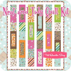 Neat and Tidy Quilt Kit Featuring Cream and Sugar by Ampersand Design Studio