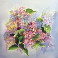 Галерея Цветочная мозаика : Новинка! Платок Букет Сирени С-60