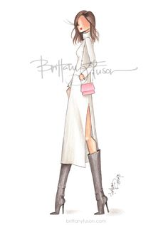 Short Stories and Skirts | blogger style | fashion illustration | Brittany Fuson