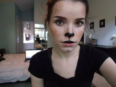 A quick and easy fawn/doe/Bambi tutorial // makeup // halloween