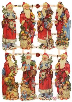 Victorian Santa scraps,made in Germany
