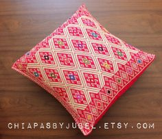 Hand #woven cushion cover  with #mayan symbols. Item available in my #etsy shop: www.chiapasbyjubel.etsy.com