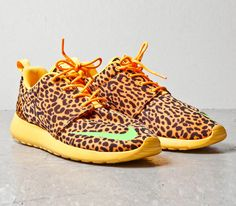 Nike Roshe Run FB – Orange Leopard