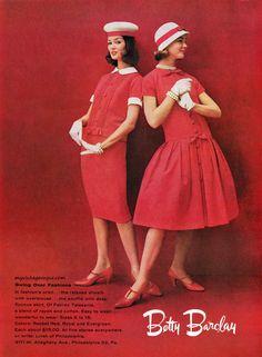 Betty Barclay fashions, 1958.
