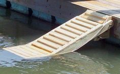 Doggie ladder for floating dock (small lake houses boathouse) Tiny House Movement, Lake Dock, Haus Am See, Floating Dock, Dog Ramp, Lake Cabins, Seen, Lake Cottage, River House