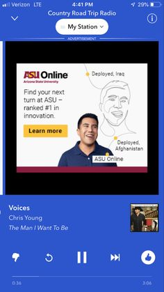 Arizona State University, Chris Young, The Voice, Innovation, Thats Not My, Things I Want, Finding Yourself, Road Trip, Country Roads