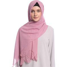 Chiffon Cut Out Hijab