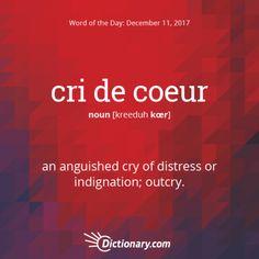 cri de coeur - Word of the Day   Dictionary.com