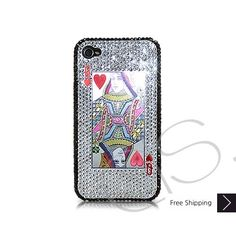 Best iPhone 5 Bling Cases | ... Cases > Poker Heart Queen Bling Swarovski Crystal iPhone 6 and iPhone