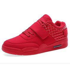 info for 3d5ff 8b246 Hombre Zapatos Cuero Nobuck Primavera Otoño Confort Zapatillas de deporte  para Casual Al aire libre Blanco Negro Rojo Azul