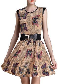 Silk Butterfly Print Dress <3 so beautiful