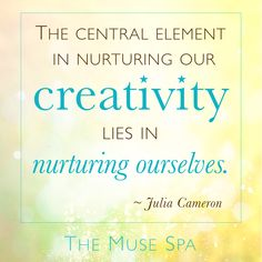 Wise words on creative self care from the ever inspiring Julia Cameron. • • • Free Samples from The Muse Spa : Digital Retreat for Writers, Artists & Creatives