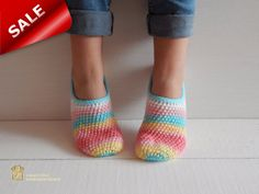 WOMAN SLIPPERS SOCKS /Crochet Slippers. Knitted от Exclusive72