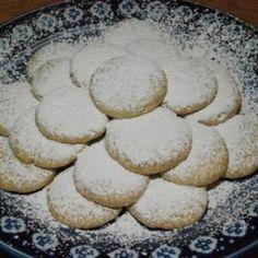 Greek Almond Shortbread Circles